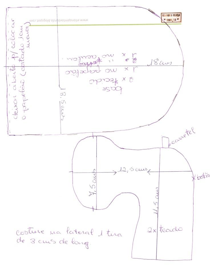 O molde do alfineteiroIdeas, Sewing, Alfinetando, Patron, Art, Sewing, Pincushions, Moldings, Alfineteiro