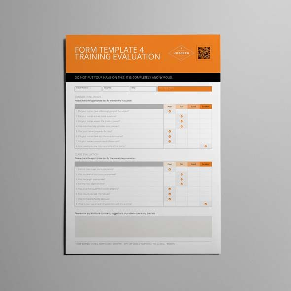 Form Template 4 Training Evaluation CMYK \ Print Ready Clean - training assessment form