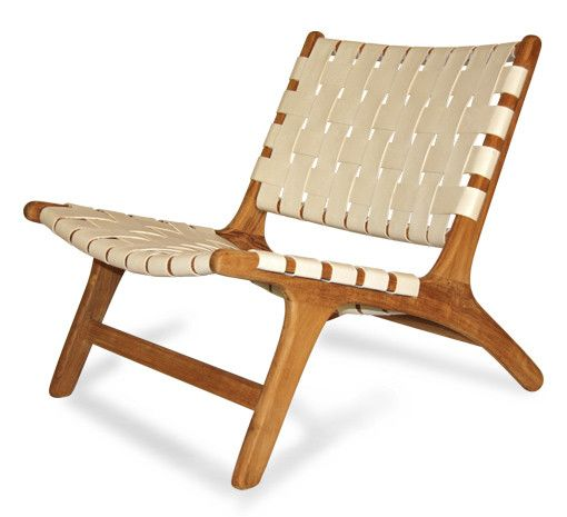 Woven Leather Chair | Ecoco