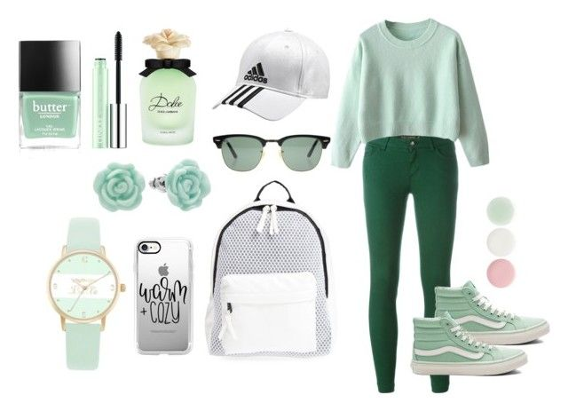"""Green"" by barathishamalah ❤ liked on Polyvore featuring Dolce&Gabbana, Poverty Flats, Ray-Ban, Vans, Casetify, adidas, Jessica Carlyle, LC Lauren Conrad, Nails Inc. and Clinique"