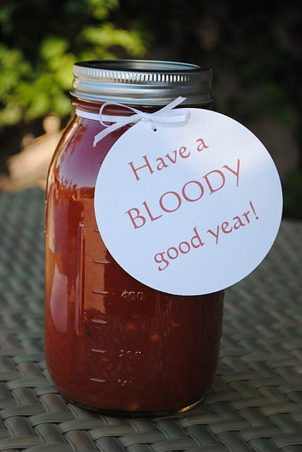 DIY - Bloody Mary Mix Gift with Hang Tag + Recipe. What a ...
