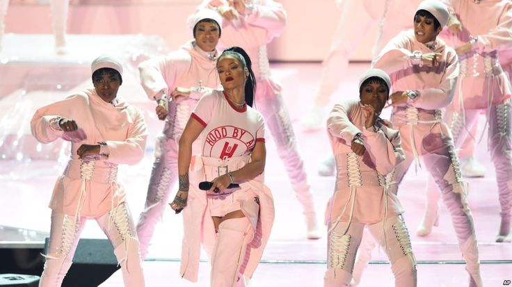Rihanna performs onstage at the MTV Video Music Awards at Madison Square Garden on Aug. 28, 2016, in New York.