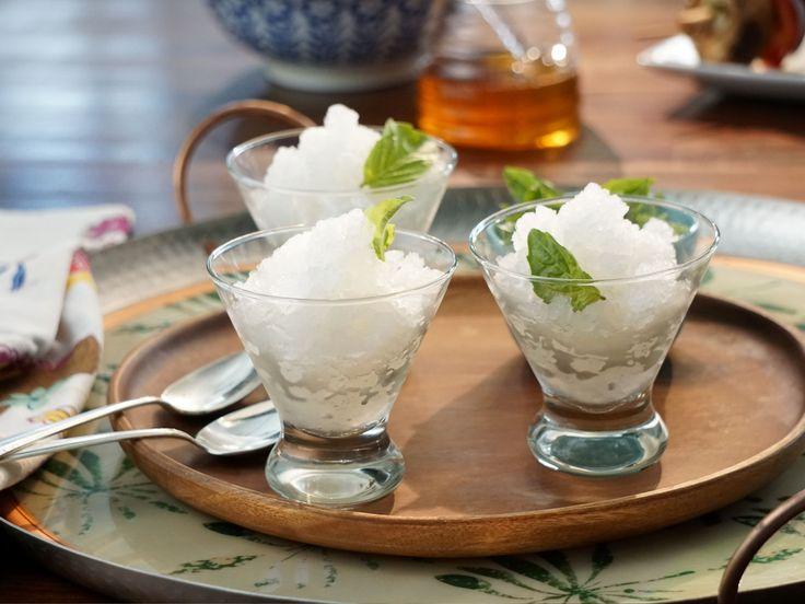 Lemon-Basil Granita recipe from Valerie's Home Cooking via Food Network