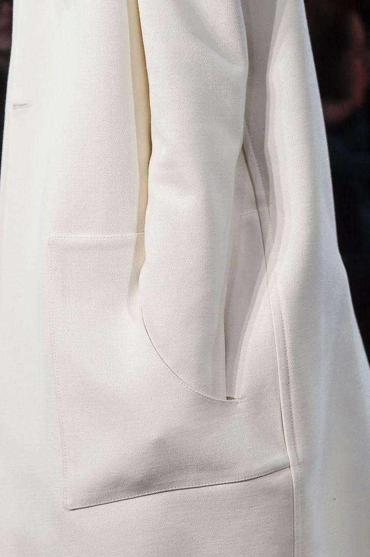 Minimalist pocket detail; sewing idea; pattern cutting; minimal fashion design details // Derek Lam Fall 2016