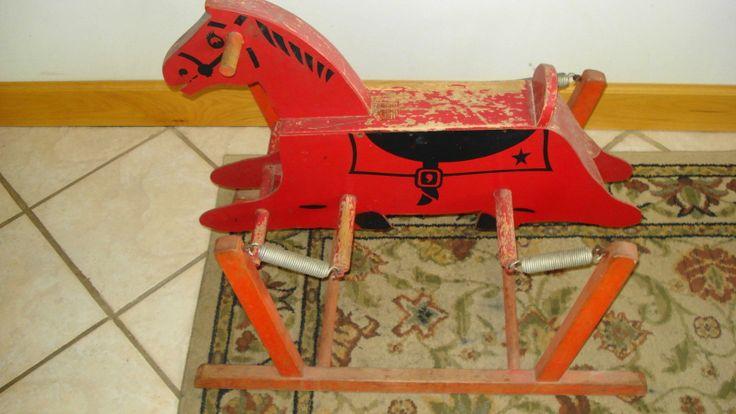 Antique Rocking Horses For Sale   for sale old vintage collectable rocking horse the wonder horse child ...