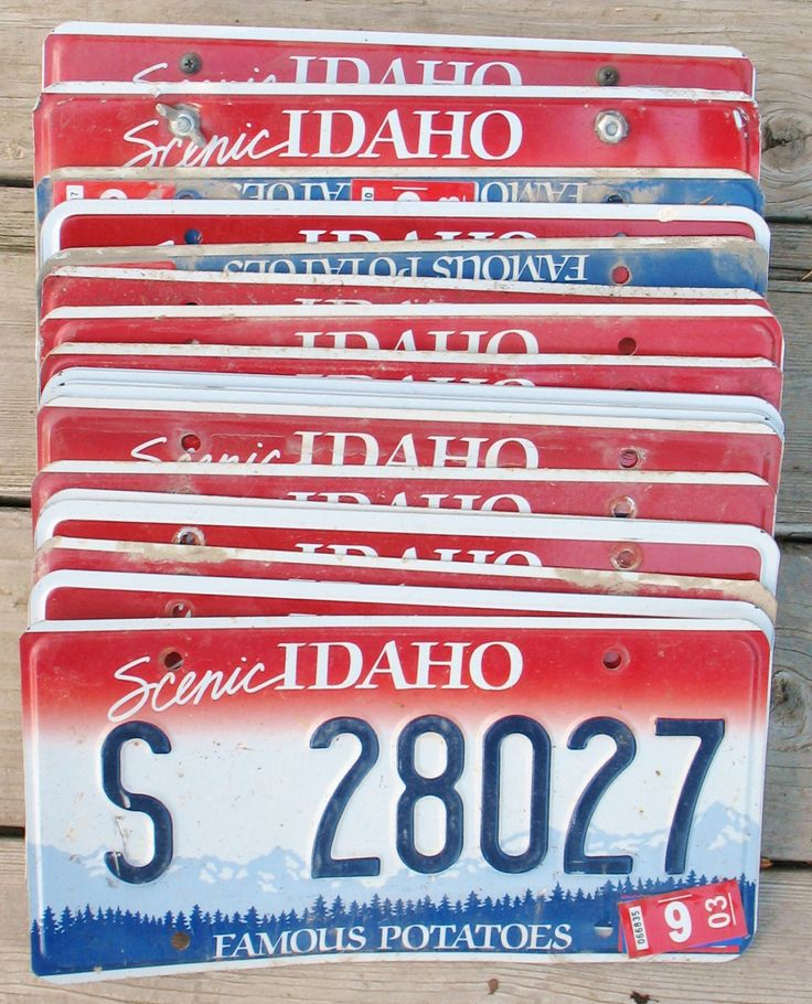 VTG Lot 20 IDAHO Embossed Metal License Plates Mixed