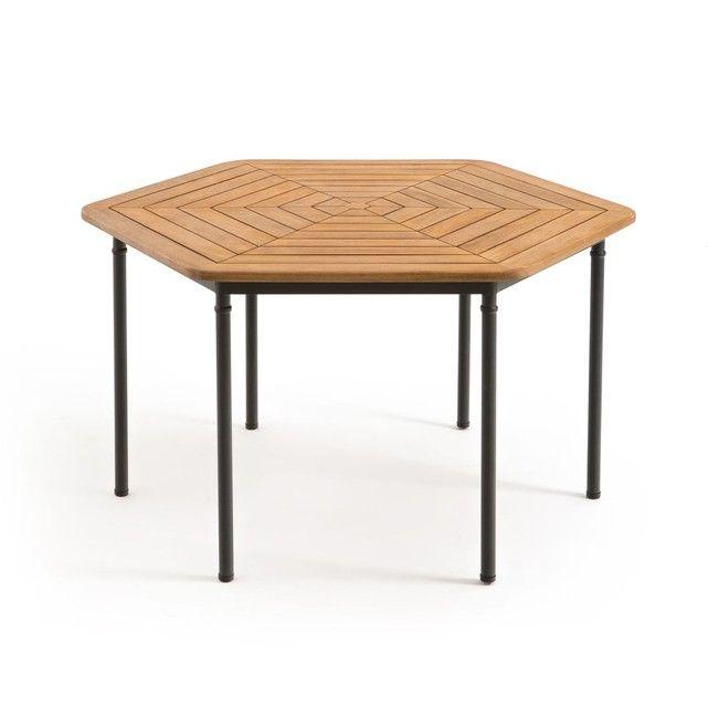 Table de jardin octogonale acacia FSC, Kajlaw | Fehri\'s Yard ...