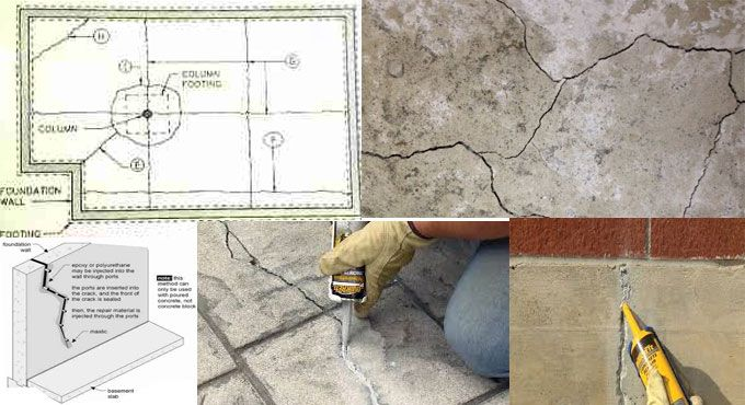 Best 25 slab foundation ideas on pinterest footing for Poured concrete foundation cracks