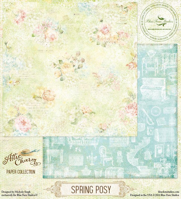 Blue Fern Studio - Attic Charm - Spring Posy
