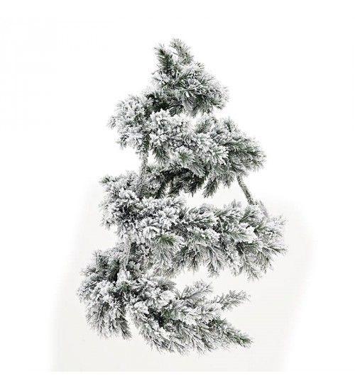 PVC WREATH_GARLAND IN GREEN_FLOCKED FINISH (238 tips) 60X90