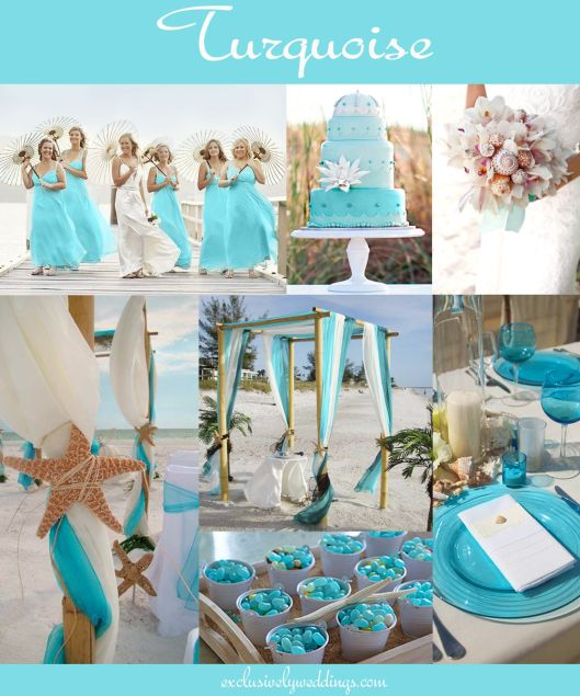 """Turquoise Wedding """"Your Wedding Color: How to Choose Between Teal, Turquoise and Aqua"""" - Read more: http://blog.exclusivelyweddings.com/2014/05/30/your-wedding-color-how-to-choose-between-teal-turquoise-and-aqua/"""