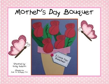 Great Mother's Day Craftivity (card and adorable writing prompts).
