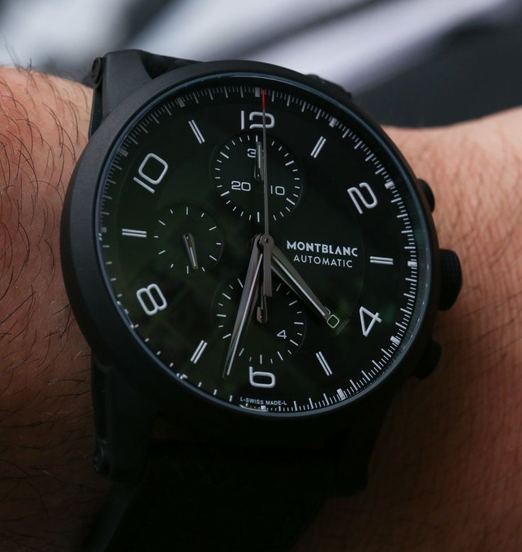 chronograph review timewalker breitling montblanc mount blog tw as the watches black watch