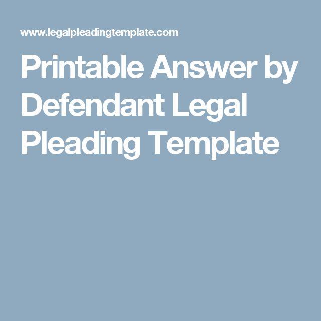 pleadings template