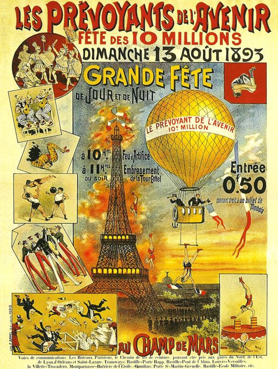 Antique Eiffel Tower France Paris Advertising By