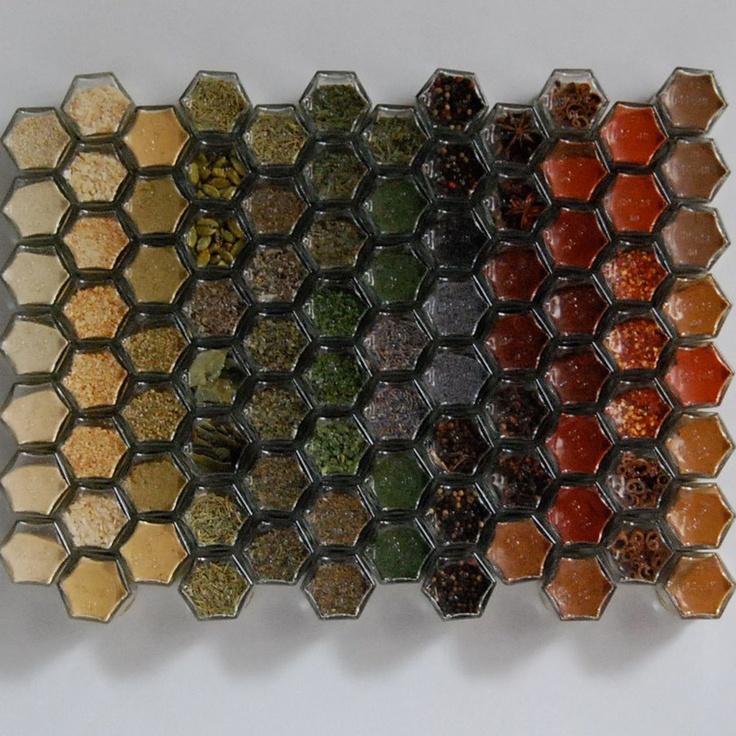 Magnetic Hexagonal Spice Jars Love Them Link Is Broken
