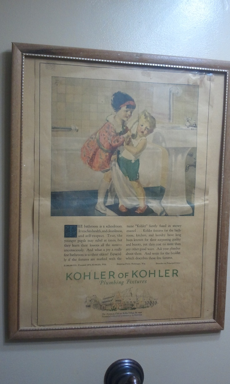 Vintage bathroom ads - Another Great Vintage Ad Is Framed For Our Bathroom