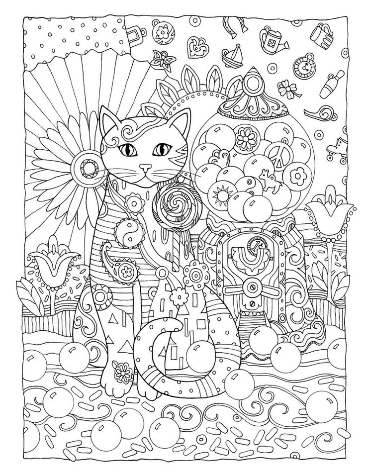 fractal coloring pages for kids - photo#43
