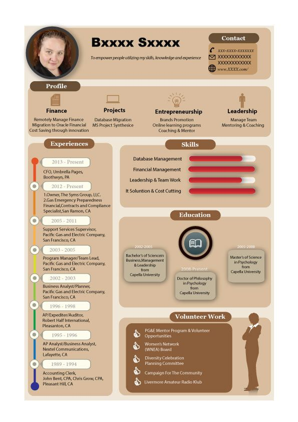 14 best Infographic Resume images on Pinterest Infographic - info graphic resume