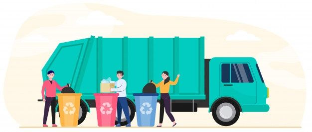 Download Cartoon People Throwing Out Rubbish And Trash For Free Cartoon People Truck Design Vector Free