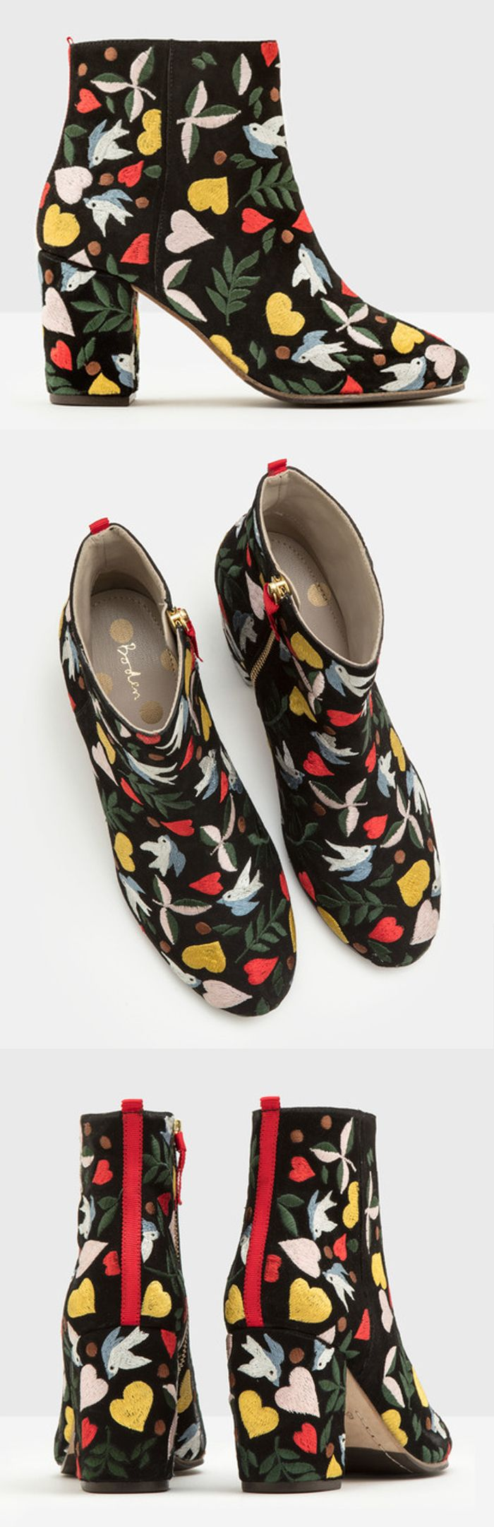 Embroidered flats by Boden // folk fashion