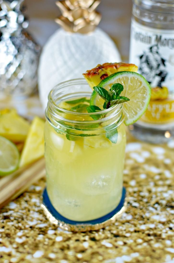This Pineapple Mojito Cocktail Recipe features Captain Morgan Pineapple Rum. It is absolutely delicious and so easy to make.