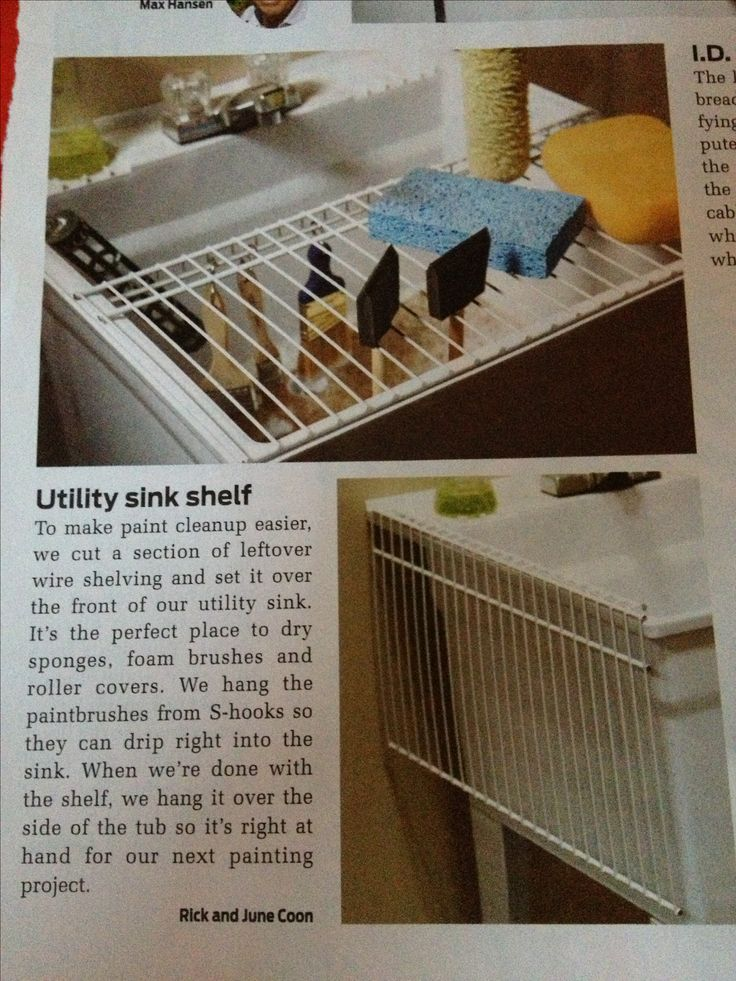 Utility Sink Shelf - smart idea after painting