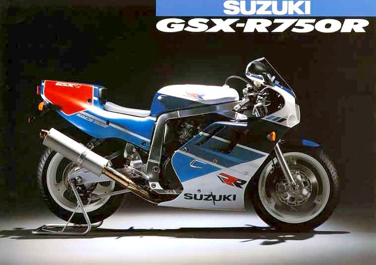 """1989 Suzuki GSX-R 750 RK - Only 500 made. Designed by Takahiko Kawaguchi and its initial purpose, apart from being a """"straight out of the crate racer"""", was a bike which could be tuned easier than its short-stroke predecessor the J, and K Suzuki GSX-R750s. This was mainly to cater for the smaller racing teams as the RK's engine reverted to the long-stroke style engine fitted in the original slabside models. #2 on wolfbrother's Top Ten Classic Superbikes list."""
