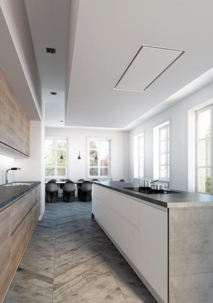 Hotte de plafond encastrable en acier inoxydable 6834 PURE'LINE - NOVY