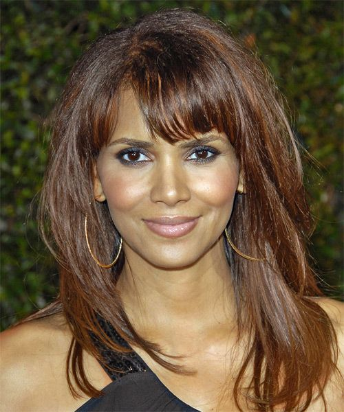 Halle Berry Long Straight Casual Hairstyle | TheHairStyler.com