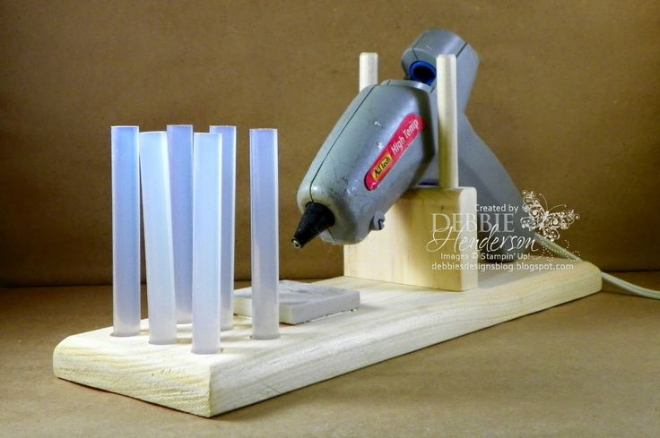 Check out my hubby Dave's Stamping Tools for Sale on my blog! Full size glue gun holder. Several tools to help with all your stamping needs. Debbie Henderson, Debbie's Designs.
