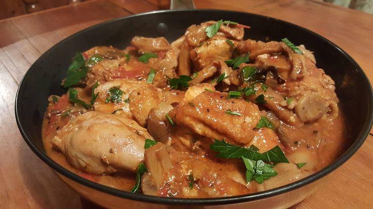 Italian Chicken & Mushroom Casserole