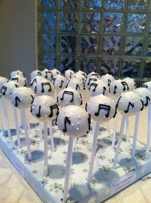 Music Notes Cake Pops