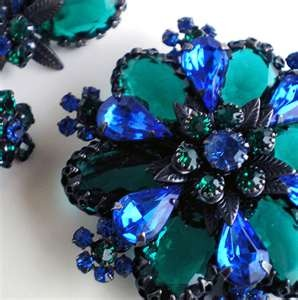 Vintage Coro brooch & earrings... Coro was made in my home state of Rhode Island. :))