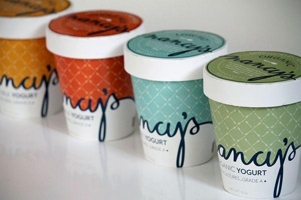 Nancy's Yogurt by Amanda Day, via Behance
