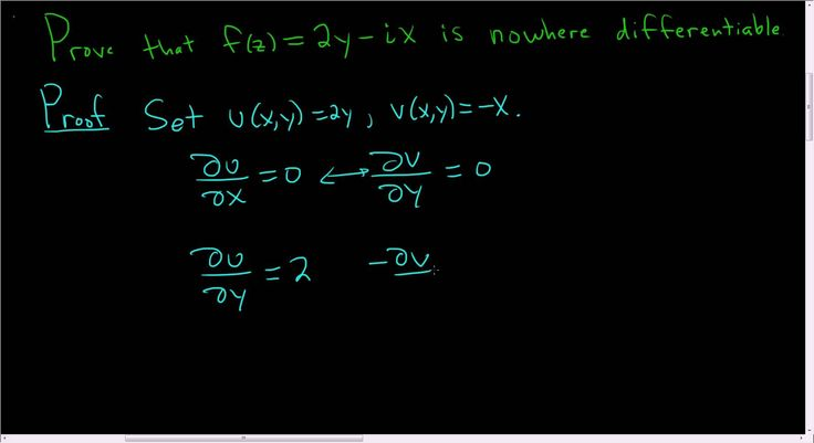 Cauchy-Riemann Equations: Proving a Function is Nowhere Differentiable 3