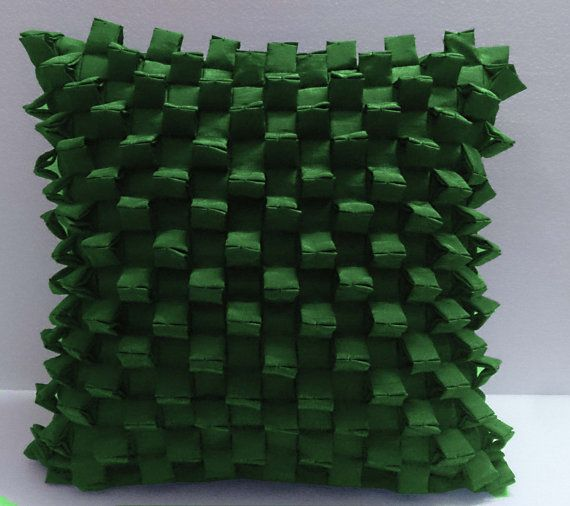 triangular pleated pyramid shaped three D Green by Tatvakala