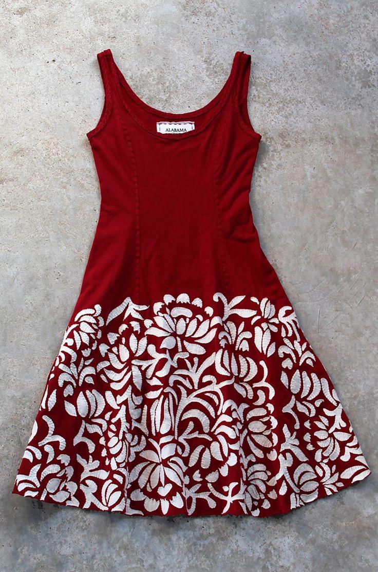 Applique camisole dress for creativebug alabama