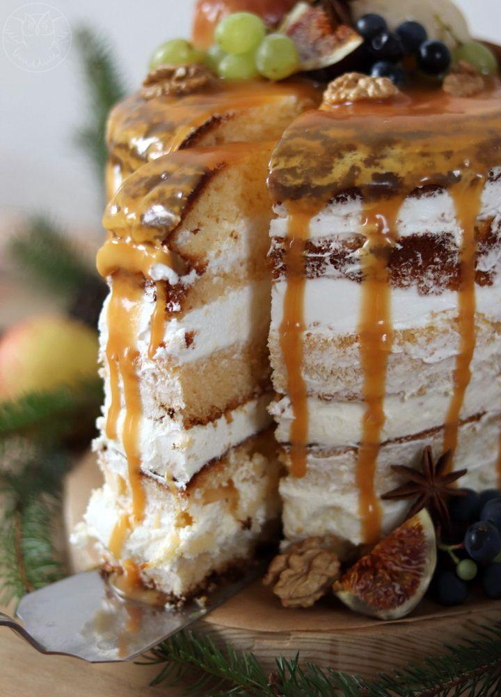 Autumn cake, naked cake, perfect for autumn birthday