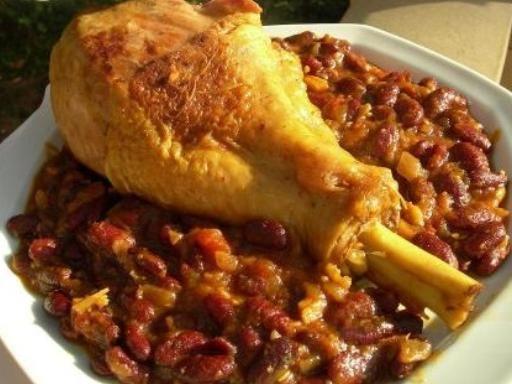Cosce di pollo con fagioli rossi - Ricetta