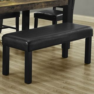 Shop For Black Leather Look Bench. Get Free Shipping At Overstock.com   · Furniture  OutletOnline ...