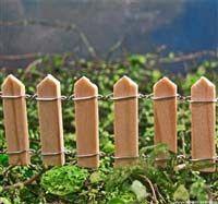 Mini Tiny Wood Picket Fence