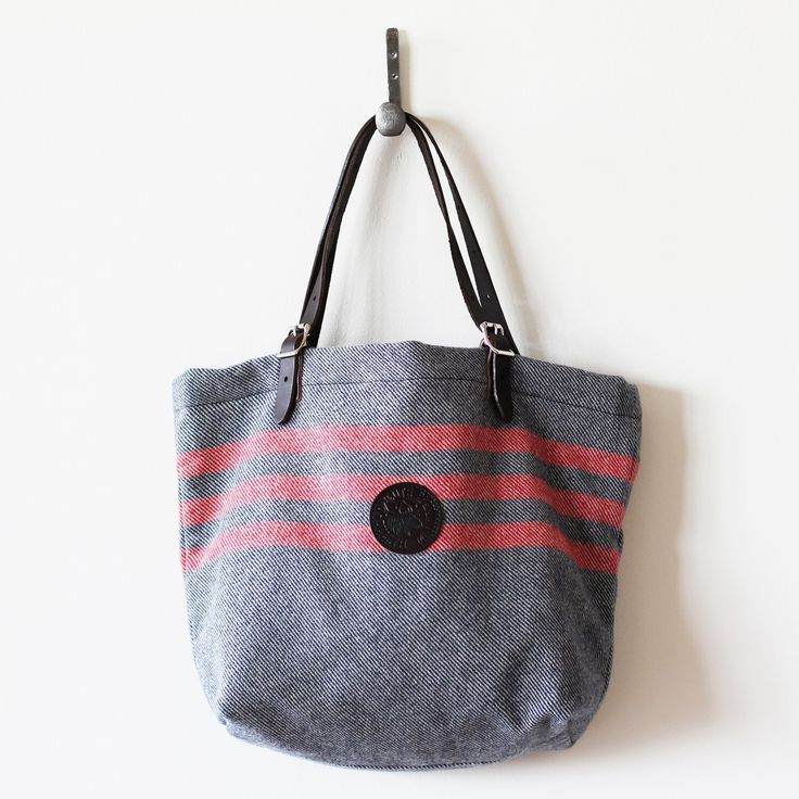 Wool market tote from Duluth Pack and Faribault Woolen Mill #MadeInUSA #madeinMN