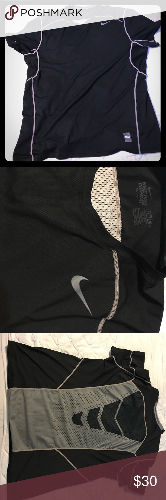Nike Pro Combat DrI Fit Shirt Nike Pro Combat DrI Fit Shirt hyper-cool, no sign of wear new condition Nike Shirts Tees - Short Sleeve