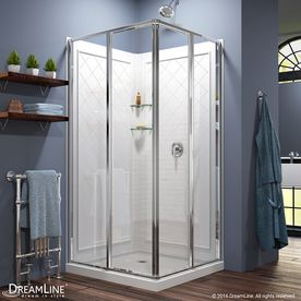DreamLine Cornerview White Acrylic Wall Acrylic Floor Square 3-Piece Corner Shower Kit (Actual: 76.75-in x 36-in x 36-in)