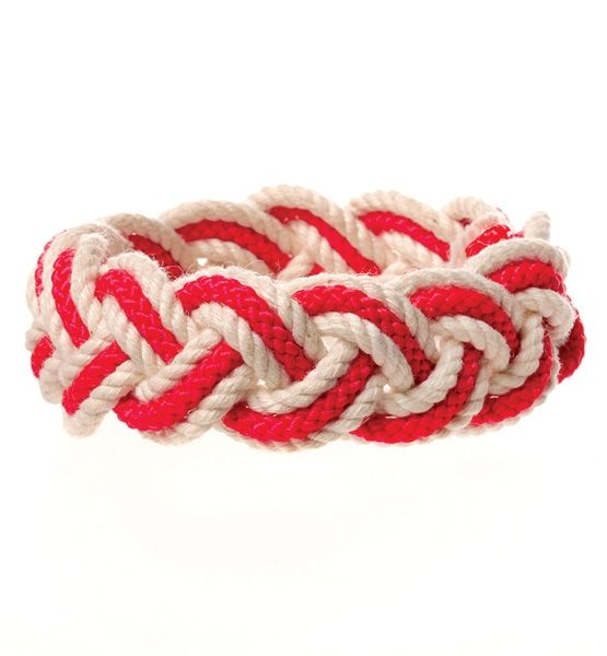 Patriot Bracelet  Nantucket Knotworks' bracelets are born in North Carolina (where the line is twisted), hand-tied in New England and dyed in New York.: American Madelov, Style Pinboard, American Made Lov, American Mad Products