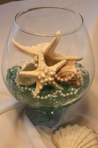 beach theme wedding center piece