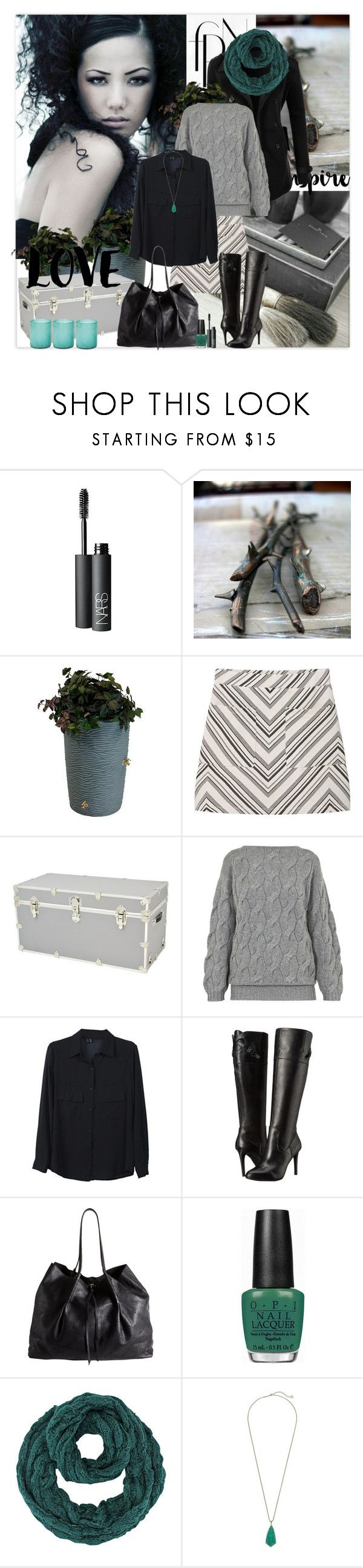 """""""M comme Mode de vie !!! 12"""" by vicky-soleil ❤ liked on Polyvore featuring NARS Cosmetics, LE3NO, Good Ideas, MANGO, AV London, Lauren Ralph Lauren, Nina Ricci, Kendra Scott and Jamie Young"""