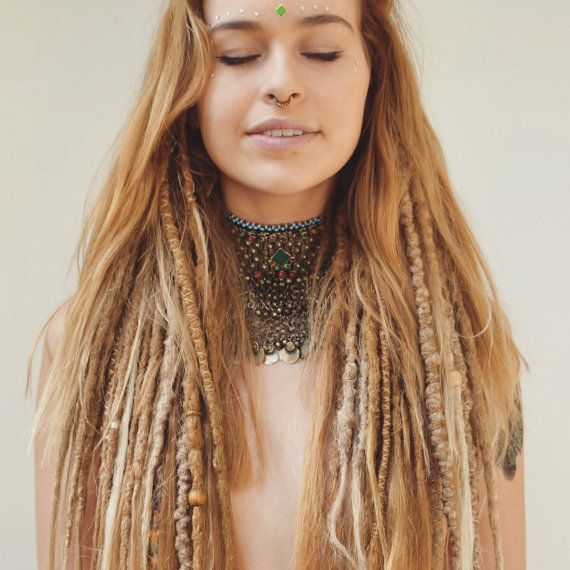 Honey Blonde Temp Dreadlocks Day of the Dreads by