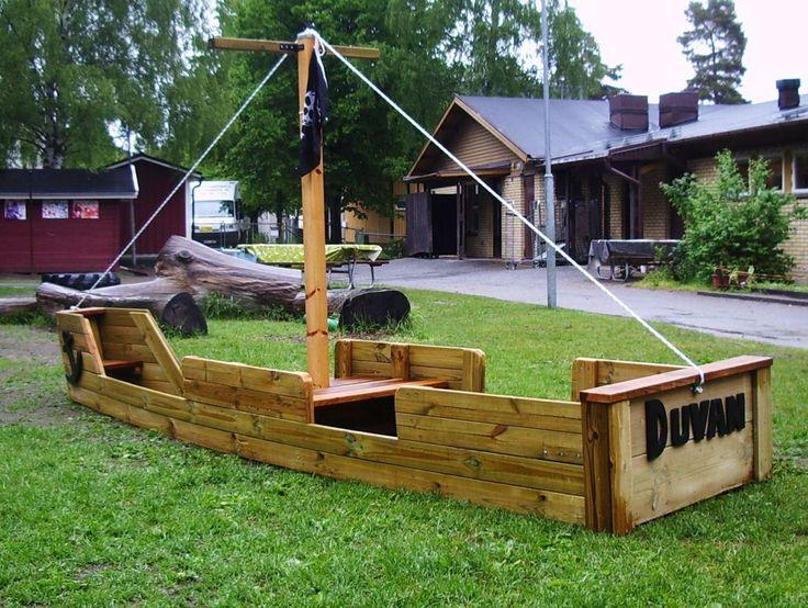 Stort piratskepp, Förskolan Duvan, Hannige www.lekfab.se